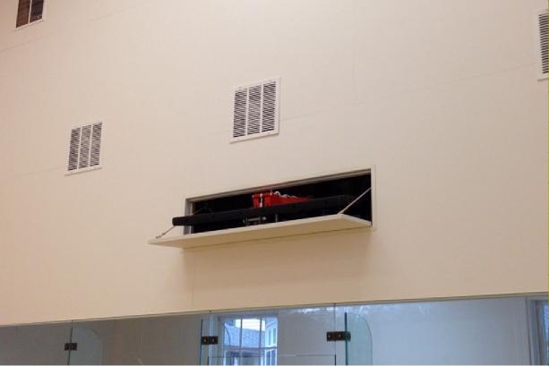 auto hoop retractable basketball backboard